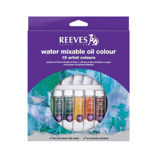 Reeves Paint Set: Water Mixable Oil Colours - 18's x 10ml