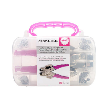 We Are Memory Keepers Crop-A-Dile and Case: Hot Pink