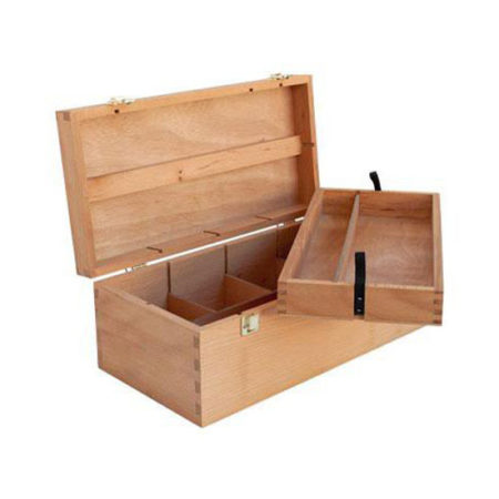 Wooden Artbox with Removable Tray