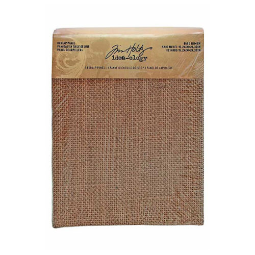 "Tim Holtz Burlap Panel: 6"" x 8"""