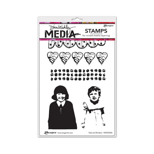 Gals and Borders Dina Wakely Stamp Set