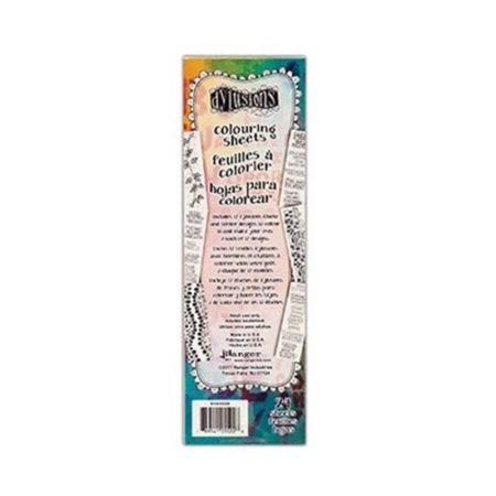 Dylusions Coloring Sheets Borders & Quotes