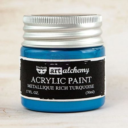 Rich Turquoise Acrylic Paint