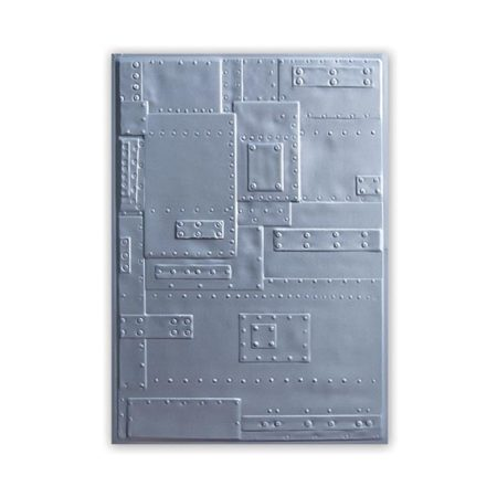 Sizzix 3-D Texture Fades Embossing Folder: Foundry
