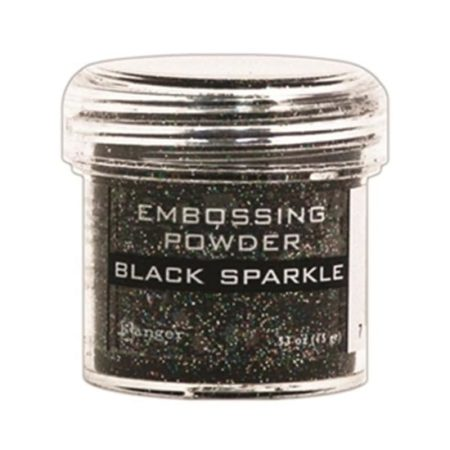 Ranger Speciality Embossing Powder :Black Sparkle