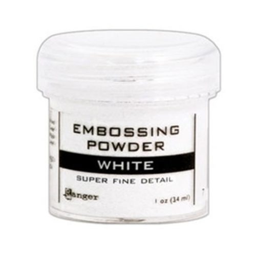 White Super Fine Embossing Powder: Ranger