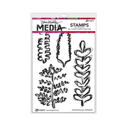 Scribbled Branches Dina Wakley Stamp Set