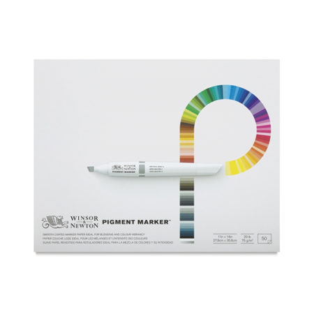 """Winsor and Newton Pigment Marker Pad 75g 50 Sheets: 11"""" x 14"""""""