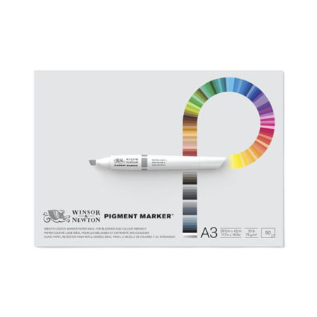 Winsor and Newton Pigment Marker Pad 75g 50 Sheets: A3