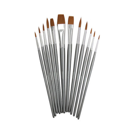 Nuvo Nylon Paint Brushes: Pack of 12