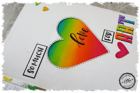 Colourful Techniques - Art Journal Series: 10 of 12 Ombre Letter It Love for Art