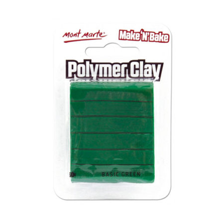 Mont Marte Polymer Clay: Basic Green