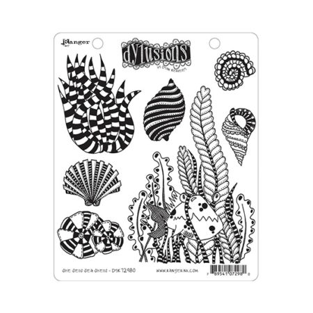 She Sells Sea Shells Dylusions Stamp Set