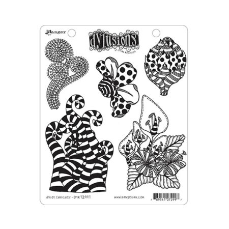 Stripy Curlicues Dylusions Stamp Set