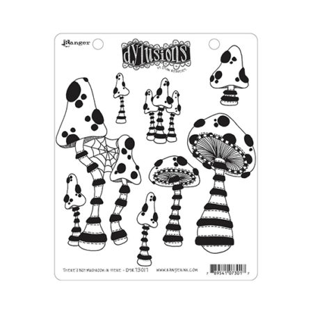 There's Not Mushroom in Here Dylusions Stamp Set