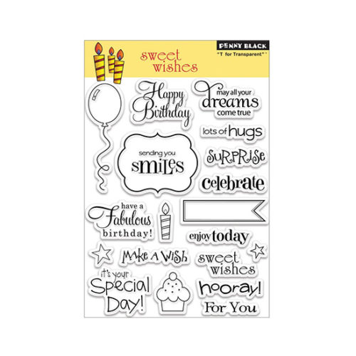 Sweet Wishes Penny Black Stamp Set