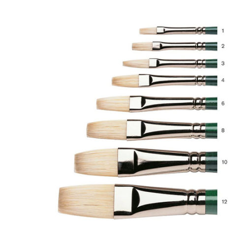 Flat 1 Winsor & Newton Winton Hog Brush Long