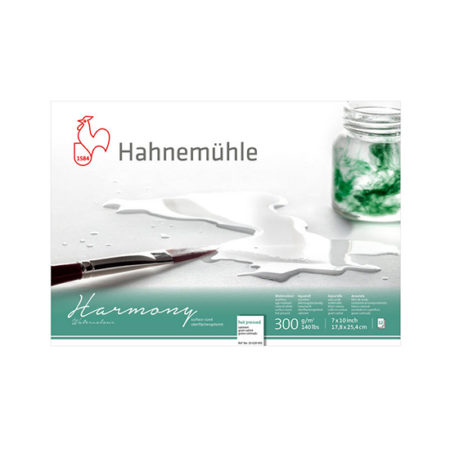 Hahnemuhle Harmony Glued Block 12 sheet GS 300gsm Hot Press: A3