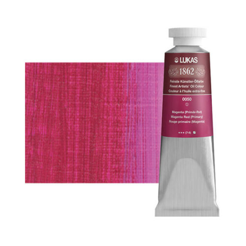 Magenta Red Primary Lukas 1862 Professional Oil Paint 37ml