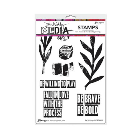 Be Willing Dina Wakley Stamp Set