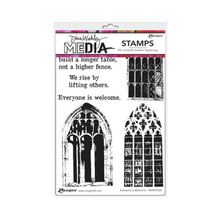 Everyone Is Welcome Dina Wakley Stamp Set