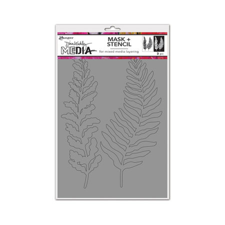 Curly Frond Mask Dina Wakley Stencil
