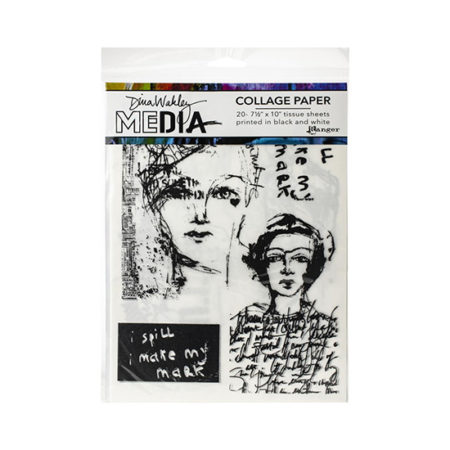 Dina Wakley Media Collage Paper: Vintage and Sketches