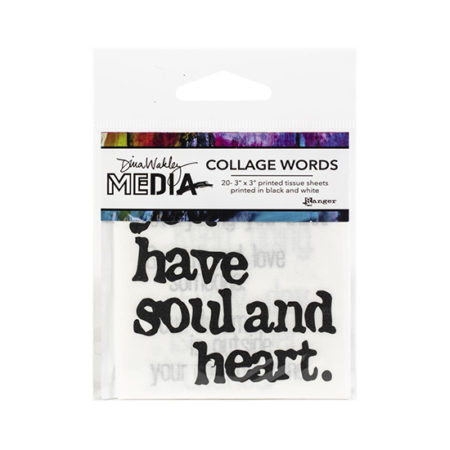 Dina Wakley Media Collage Paper: Word Pack 2