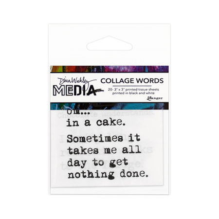 Dina Wakley Media Collage Paper: Word Pack 3