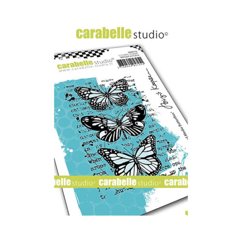Mixed Media Butterflies Carabelle Studio Cling Stamp A7