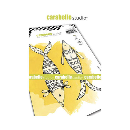 Well Dressed Fish Carabelle Studio Cling Stamp A6
