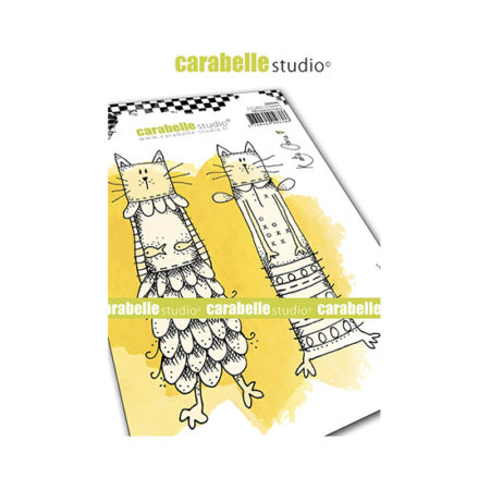 Kooky Cats Carabelle Studio Cling Stamp A6