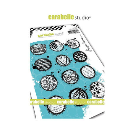 Circles Collage Carabelle Studio Cling Stamp A6
