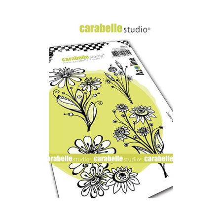 Morning Bouquet Carabelle Studio Cling Stamp A6