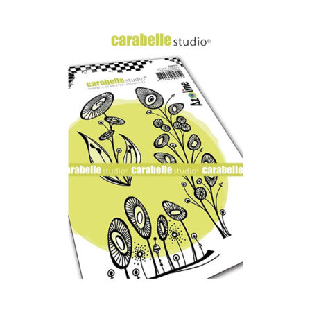 Sunflowers Carabelle Studio Cling Stamp A6
