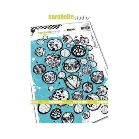 Circles Galore Carabelle Studio Cling Stamp Set A5