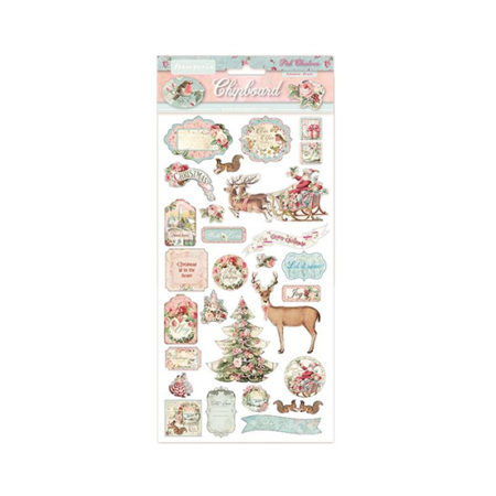 Pink Christmas Chipboards