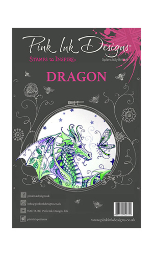 Dragon Creative Expressions Pink Ink Designs A5 Clear Stamp Set