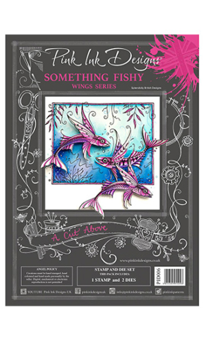 Something Fishy Creative Expressions Pink Ink Designs A5 Clear Stamp & Die Set