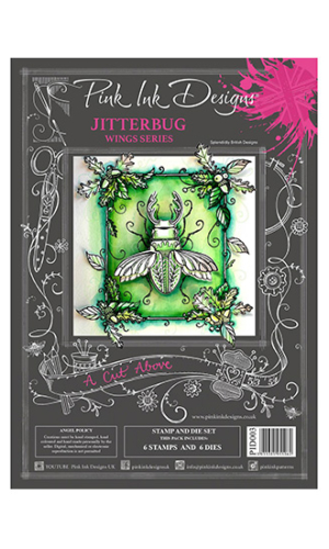 Jitterbug Creative Expressions Pink Ink Designs A5 Clear Stamp & Die Set