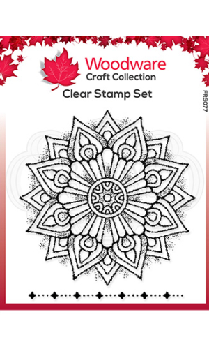 Mandala 1 Creative Expressions Woodware Clear Stamp 4″ x 4″