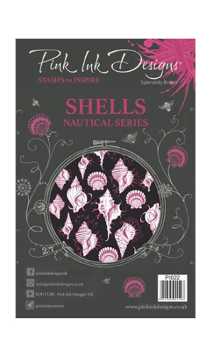 Shells Creative Expressions Pink Ink Designs A5 Clear Stamp Set